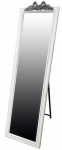 Cheval Mirror White/ Grey